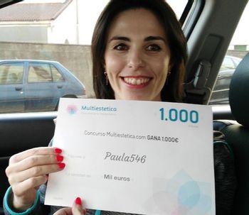 Ganadora del concurso del mes de mayo: Paula546
