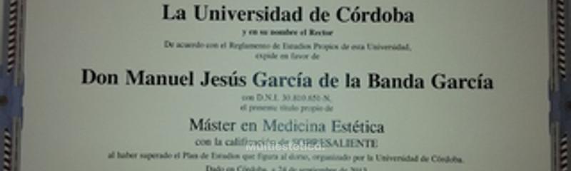 Titulo Master Medicina Estetica