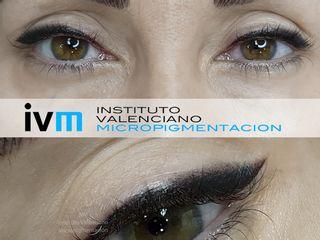 Antes y después Micropigmentación eyeliner