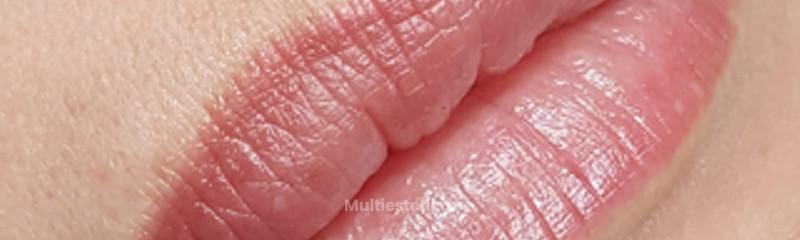 Micropigmentación labios con contorno difuminado