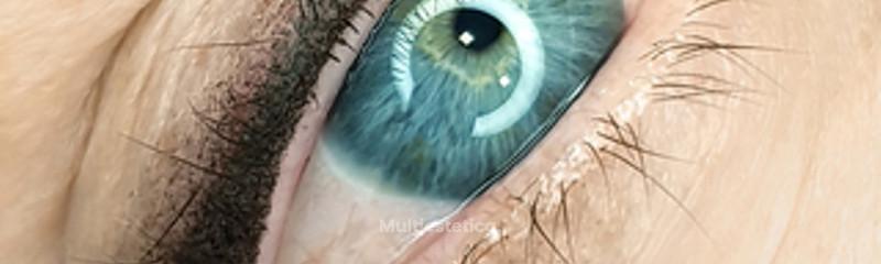 Micropigmentación eye-liner con sombra difuminada