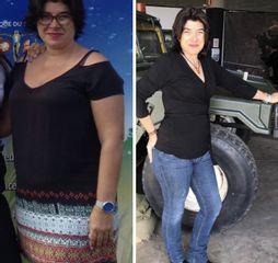 Antes y despues 4 meses ( 25 kg) con capsula ELIPSE