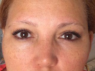 Antes micropigmentación cejas pelo a pelo