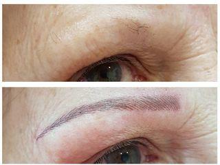 Antes y después micropigmentación de cejas pelo a pelo