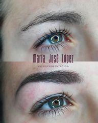 Antes y después Micropigmentación de Cejas pelo a pelo hiperrealista