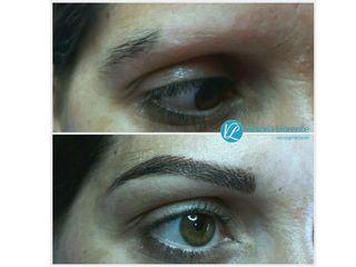 Antes y después Micropigmentacion de Cejas