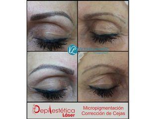 Antes y después micropigmentacion correccion de cejas