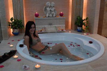Baño floral spa