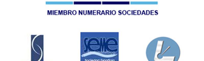 Miembro Numerario de varias Sociedades Médicas