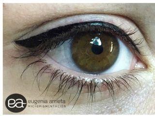 Micropigmentación de ojos.