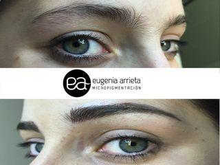 Antes y después micropigmentación de cejas
