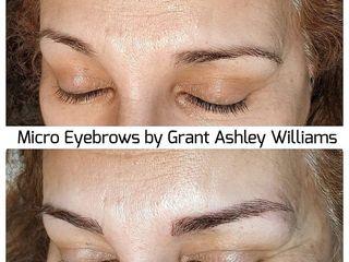Antes y después Micropigmentación Profesional Grant Ashley Williams