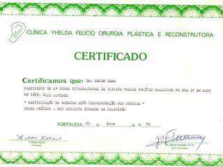Certificado Fat transfer