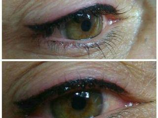 Antes y después micropigmentación ojos