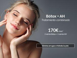 Bótox + ácido hialurónico · Elimina arrugas e hidrata la piel