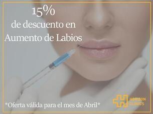 Aumento de labios 15% Off