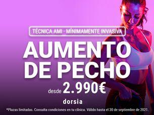 Aumento de pecho mínimamente invasivo desde 2990€