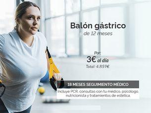 Pierde peso con el Balón Gástrico de 12 meses por 3€ al día