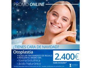 Promo otoplastia (cirugía de orejas) por 2.400€