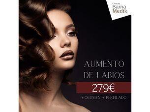 Aumento de Labios (Volumen + Perfilado) por 279€