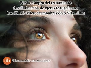 Elimina ojeras + regalo microdermoabrasión o vitaminas