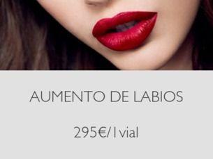 Aumento de Labios con ácido hialurónico 295€/1ml