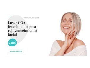 Láser CO2 fraccionado para rejuvenecimiento facial