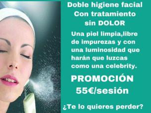 Doble higiene facial sin dolor