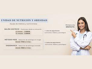 Primera consulta gratuita en la unidad de nutrición y obesidad
