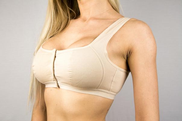 sujetador tras operación asimetría mamaria