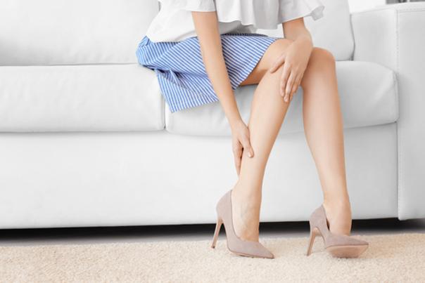 Piernas después del láser vascular