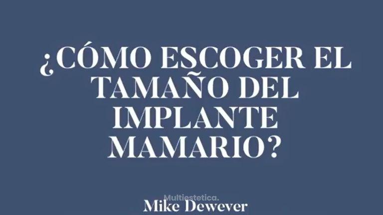 ¿Cómo escoger el tamaño del implante mamario?