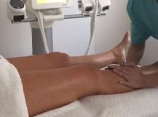 El masaje de piernas cansadas!
