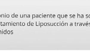 testimonio de una paciente de Lipo Vaser